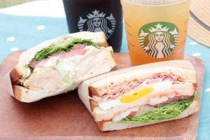バジルサンドイッチとクラブハウスサンドイッチ