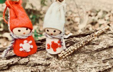 サックスと人形