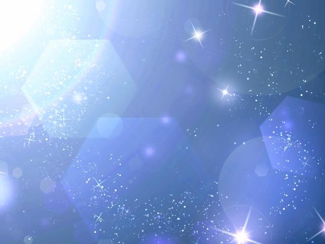 青いキラキラ